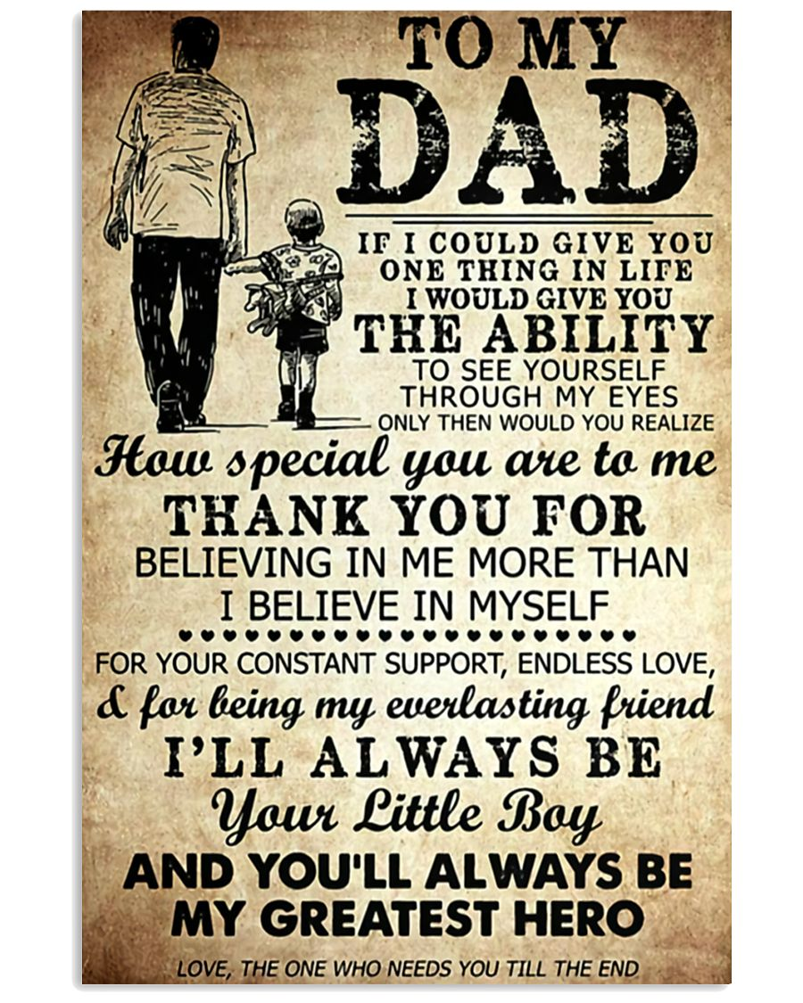 TO MY DAD - MB245 11x17 Poster