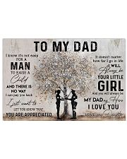 TO MY DAD - POLICE Horizontal Poster tile