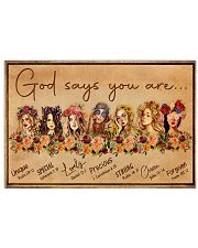 God says you are 17x11 Poster thumbnail