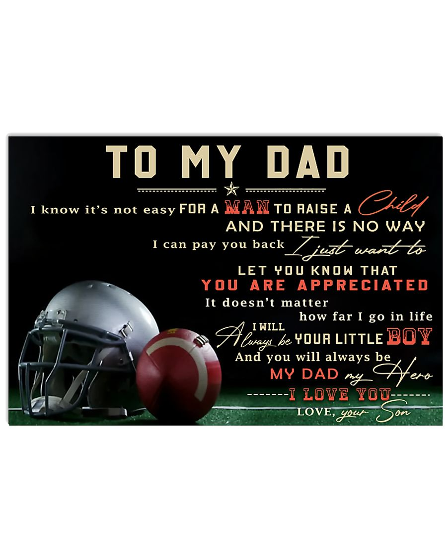 TO MY DAD - MB297 36x24 Poster