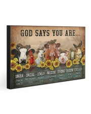 GOD SAYS YOU ARE 30x20 Gallery Wrapped Canvas Prints front