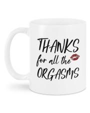 THANKS FOR ALL THE ORGASMS Mug back