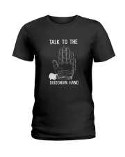 Talk to the Guidonian hand Ladies T-Shirt tile
