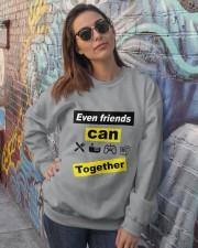Awesome friendship T-Shirt Crewneck Sweatshirt lifestyle-unisex-sweatshirt-front-3