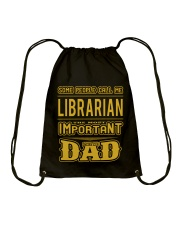 librarian-librarian Tshirt -librarian hoodie Drawstring Bag thumbnail