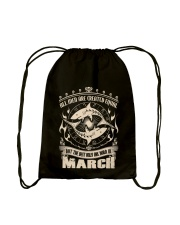 Birthday -March Birthday - Birthday Hoodie Drawstring Bag tile