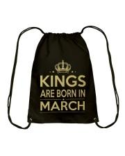 Birthday -March Birthday - Birthday Hoodie Drawstring Bag thumbnail