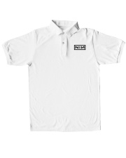 Nine Inch Nails Polo Unisex Shirt Classic Polo embroidery-polo-short-sleeve-layflat-front