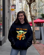 Hope for a cure Hooded Sweatshirt lifestyle-unisex-hoodie-front-2
