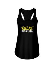 Relax Dios está Ladies Flowy Tank thumbnail