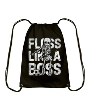 Floss Like a Boss Skeleton T shirt Soccer Drawstring Bag thumbnail