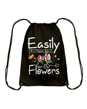 Easily Distracted By Flowers Shirts Drawstring Bag thumbnail