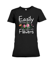 Easily Distracted By Flowers Shirts Premium Fit Ladies Tee thumbnail