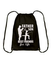 Father And Son Best Friends For Life Fishing Shirt Drawstring Bag thumbnail