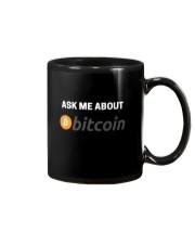 Ask Me About Bitcoin T-Shirt Mug thumbnail