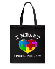 I Heart Speech Therapy T-Shirt Tote Bag thumbnail