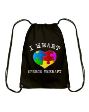 I Heart Speech Therapy T-Shirt Drawstring Bag thumbnail