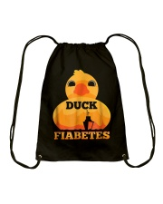 Funny Diabetes: Duck Fiabetes Gift T-Shirt Drawstring Bag tile