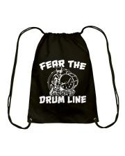 Fear The Drum line Funny Marching Band T-Shirt Drawstring Bag thumbnail
