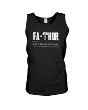 Fathor way cooler Dad Shirt Unisex Tank thumbnail