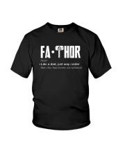 Fathor way cooler Dad Shirt Youth T-Shirt thumbnail