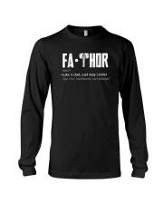 Fathor way cooler Dad Shirt Long Sleeve Tee thumbnail