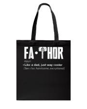 Fathor way cooler Dad Shirt Tote Bag thumbnail