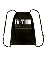 Fathor way cooler Dad Shirt Drawstring Bag thumbnail