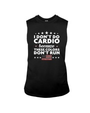 I Don't Do Cardio Because These Colors Don't Run Sleeveless Tee thumbnail
