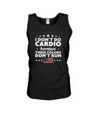 I Don't Do Cardio Because These Colors Don't Run Unisex Tank thumbnail