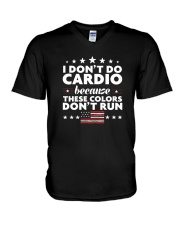 I Don't Do Cardio Because These Colors Don't Run V-Neck T-Shirt thumbnail
