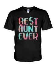 Best Aunt Ever Shirts V-Neck T-Shirt thumbnail