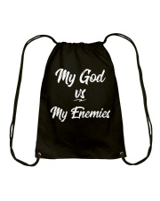 My God vs My Enemies TShirt Drawstring Bag thumbnail