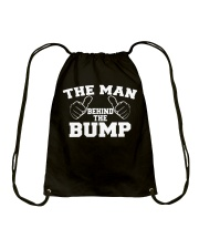 The Man Behind The Bump Shirt Drawstring Bag thumbnail