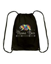 Mama Bear Autism Awareness Shirts Drawstring Bag thumbnail
