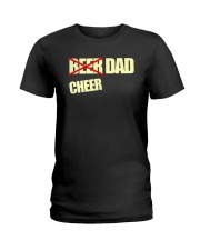 Funny Cheerleader Gift Beer Cheer Dad T Shirt Ladies T-Shirt thumbnail