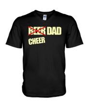 Funny Cheerleader Gift Beer Cheer Dad T Shirt V-Neck T-Shirt thumbnail