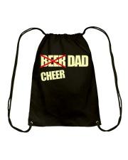 Funny Cheerleader Gift Beer Cheer Dad T Shirt Drawstring Bag thumbnail