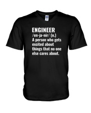 Engineer Definition T-shirt V-Neck T-Shirt tile