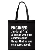 Engineer Definition T-shirt Tote Bag tile