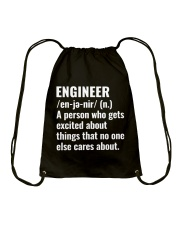 Engineer Definition T-shirt Drawstring Bag thumbnail