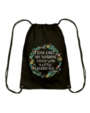 Girls Are Sunshine Mixed With a Little Hurricane S Drawstring Bag thumbnail