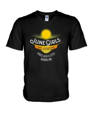 June Girls Are Sunshine Mixed With a Little Shirt V-Neck T-Shirt thumbnail