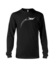 I'd Rather Be Flying Airplane Pilot T-shirt Long Sleeve Tee thumbnail