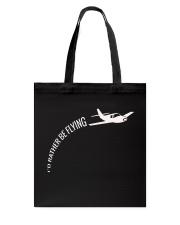 I'd Rather Be Flying Airplane Pilot T-shirt Tote Bag thumbnail