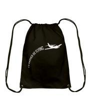 I'd Rather Be Flying Airplane Pilot T-shirt Drawstring Bag thumbnail