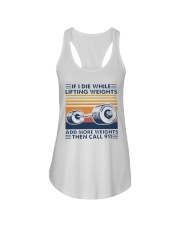 If I Die While Lifting Weights Add More T-Shirt Ladies Flowy Tank thumbnail