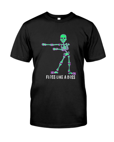 Floss Like A Boss Skeleton T Shirt