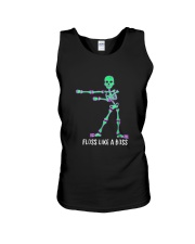 Floss Like A Boss Skeleton T Shirt Unisex Tank tile