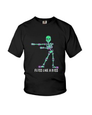 Floss Like A Boss Skeleton T Shirt Youth T-Shirt tile